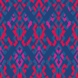 Ikat Seamless Pattern Design for Fabric.  Stock Image