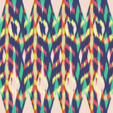 Ikat Seamless Pattern Design for Fabric.  Stock Photos
