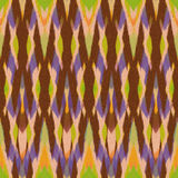 Ikat Seamless Pattern Design for Fabric Stock Images