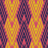 Ikat Seamless Pattern Design for Fabric royalty free illustration