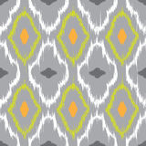 Ikat seamless pattern design Royalty Free Stock Image
