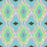 Ikat seamless pattern design Stock Photography