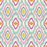 Ikat seamless pattern design Royalty Free Stock Images
