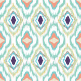 Ikat seamless pattern design Royalty Free Stock Images