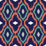 Ikat seamless pattern design Stock Photo