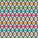Ikat seamless pattern Royalty Free Stock Image