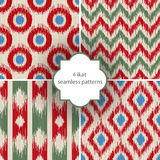 4 ikat seamless patterns Stock Images