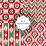 4 ikat seamless patterns Stock Images