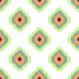 Ikat vector seamless pattern. Abstract geometric Royalty Free Stock Photos