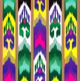Ikat Wschodnia tkanina azjata wzór Tradycyjny obywatel odziewa ilustracja wektor