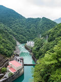 Ikawa Hydro Power Plant. Landscape of Ikawa Hydro Power Plant and Ikawa River in Shizuoka, Japan Stock Photo