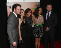 Ike Barinholtz, Tina Fay, Amy Poehler, Maya Rudolph, Jason Moore. NEW YORK-DEC 8: (L-R) Actors Ike Barinholtz, Tina Fay, Amy Poehler, Maya Rudolph and director Stock Photo