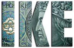 IKE, fondo de jubilación individual 100 PLN o textura polaca del Zloty ilustración del vector