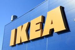 Ikea. Shot of Ikea store logo Stock Photo