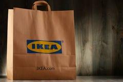Αρχική τσάντα αγορών εγγράφου της IKEA Στοκ Εικόνα