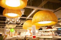 IKEA almacena en las lámparas de Chengdu Foto de archivo libre de regalías