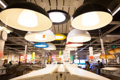 IKEA almacena en las lámparas de Chengdu Fotografía de archivo