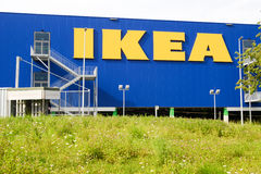 IKEA billboard in front of their own appliances retailer. Royalty Free Stock Image