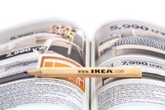 IKEA blyertspenna fotografering för bildbyråer