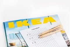 IKEA-catalogus royalty-vrije stock foto's