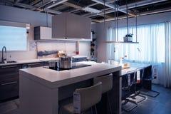 Ikea-de modelwoning van de keukenopslag het winkelen royalty-vrije stock afbeelding