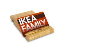 Ikea-familiekaart royalty-vrije stock afbeelding