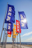 IKEA flags against sky at the IKEA Samara Store Stock Images