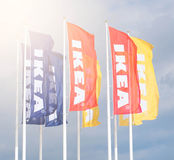 Ikea flags Stock Photos