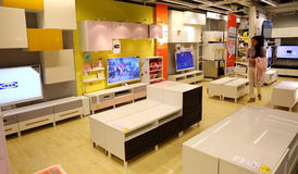 Furniture store shop. Inside ikea modern furniture store home improvement shop in Guangzhou , China Stock Images