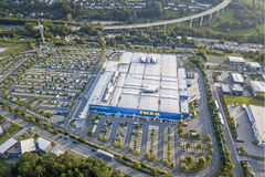 IKEA immagazzina in Siegen, Germania Fotografia Stock Libera da Diritti