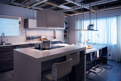 Ikea kitchen store model home shopping Royalty Free Stock Image