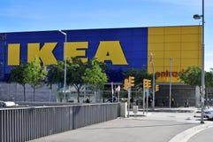 Ikea lager i Hospitalet de Llobregat, Spanien Arkivfoto