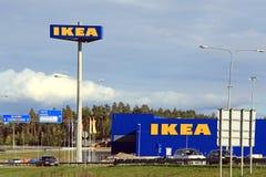 IKEA lager i Raisio, Finland Arkivbild