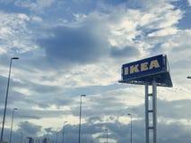Ikea logo morning cheras kuala lumpur Royalty Free Stock Photos
