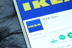 Ikea-opslag mobiele app Royalty-vrije Stock Foto's