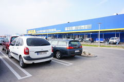 Ikea parking lot Royalty Free Stock Photos