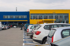 Ikea parking lot Royalty Free Stock Photo