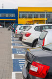 Ikea parking lot Royalty Free Stock Images