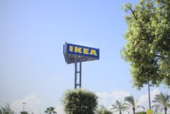 Ikea sign editorial Royalty Free Stock Photography
