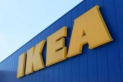IKEA sign on the Ikea market Stock Photos