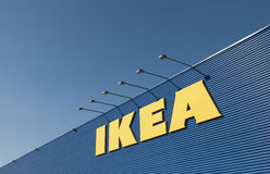 IKEA sign on Ikea market Royalty Free Stock Image