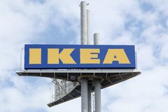 IKEA sign in the sky Royalty Free Stock Photo
