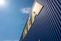 IKEA sign at store against blue sky Stock Photography