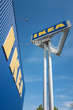 IKEA sign at store against blue sky Royalty Free Stock Photos
