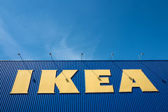 IKEA sign at store against blue sky Royalty Free Stock Image
