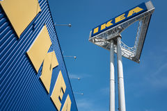 IKEA sign at store against blue sky Royalty Free Stock Photography