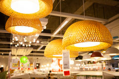 IKEA store in Chengdu lamps Royalty Free Stock Photo