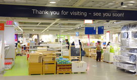 Ikea Store Exit Stock Image