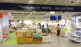 Ikea Store Exit Stock Image