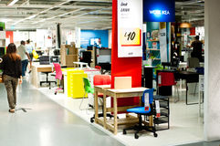 Ikea store. Interior of an Ikea store in London on August 28, 2013. Swedish retailer expects green energy portfolio to meet 70 per cent of its demand in 2015 and Stock Photography